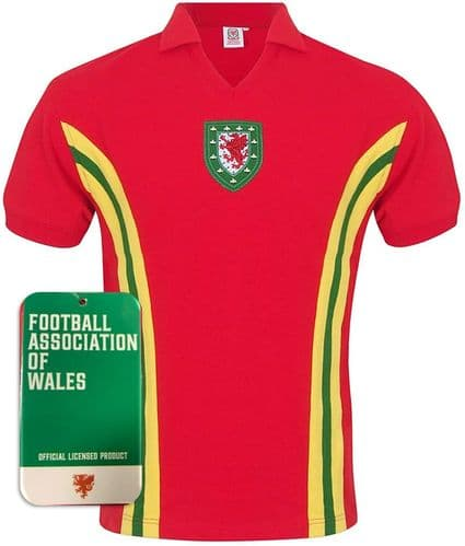 Wales 1976 Retro Home Football Shirt
